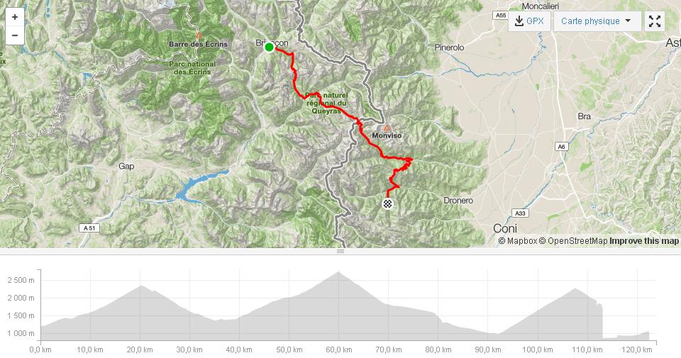 Briançon Izoard Agnello Sampeyre 7majeurs Sortie à vélo Strava
