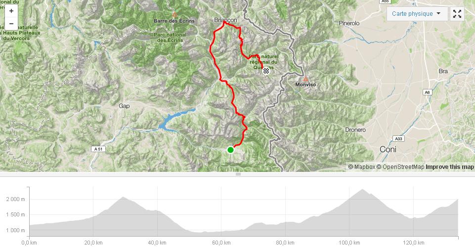 LES 7 MAJEURS Jour 1 Col de Vars Izoard ..St Véran Sortie à vélo Strava